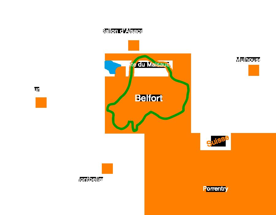 Circuit difficile : tour des fort autour de Belfort en Vtt