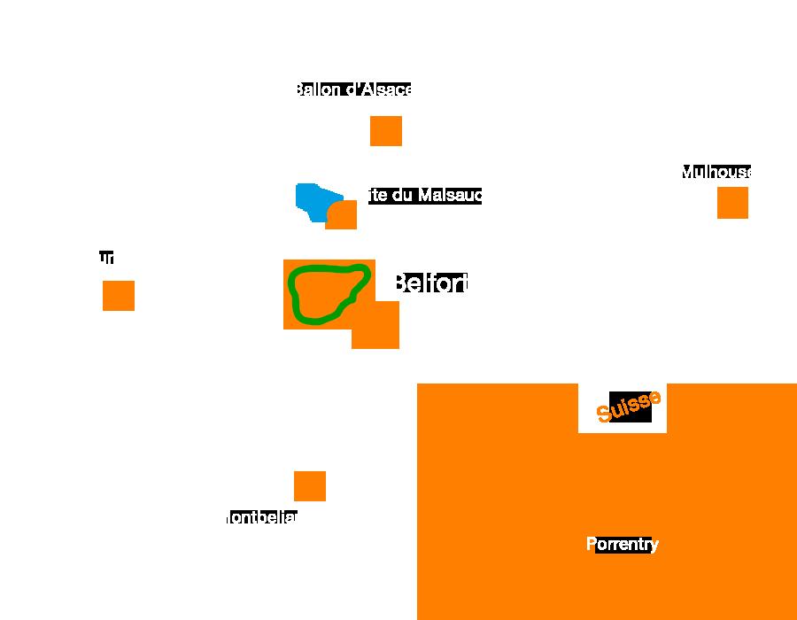Circuit facile : Le tour du Salbert à Belfort en Vtt