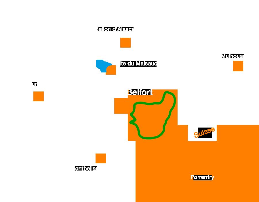Circuit moyen : randonnée des Loups prés de Belfort en Vtt