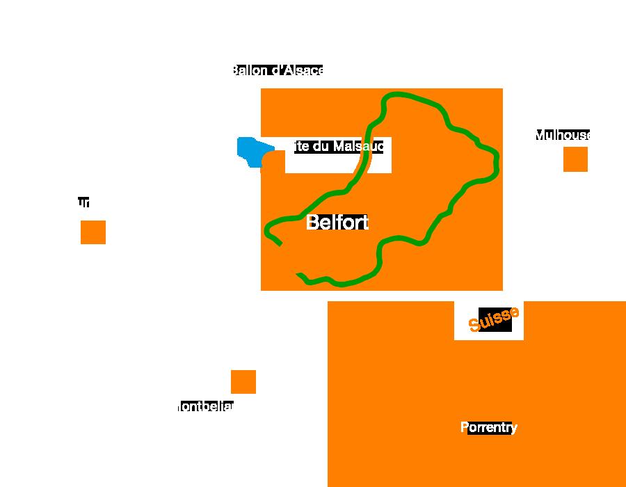 Circuit très difficile : transterritoire autour de Belfort en Vtt
