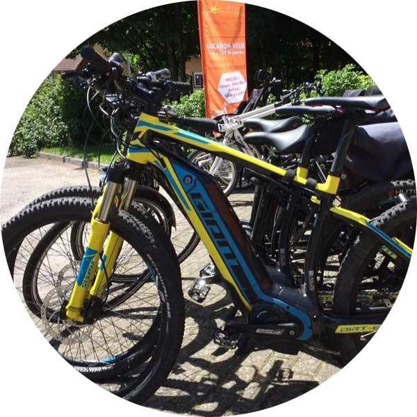 location de vélos assistance électrique au camping de Belfort