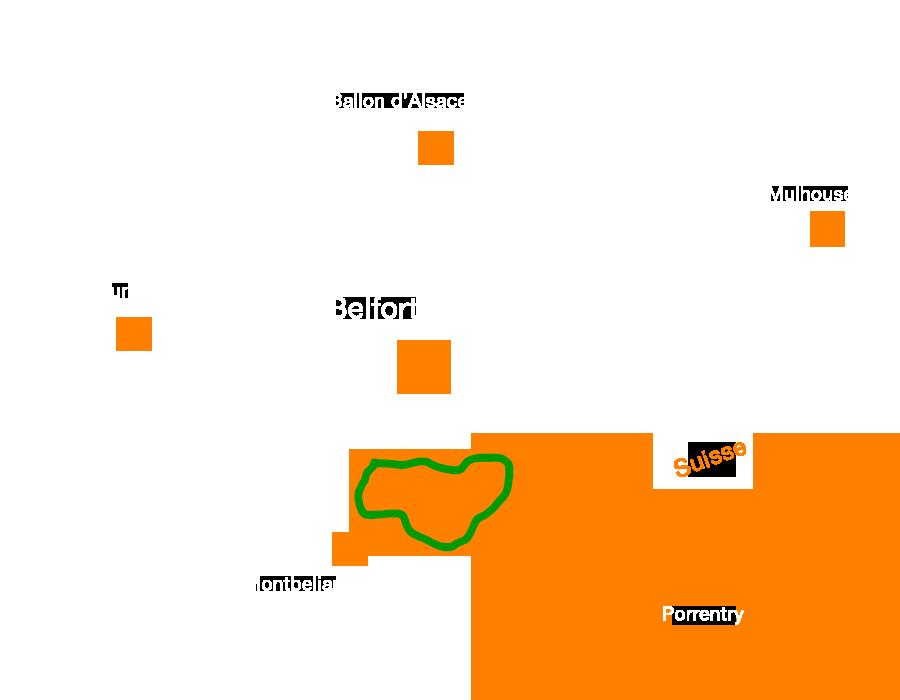 la Boucle 642 de la FVS , une voie verte traversant le Territoire de Belfort