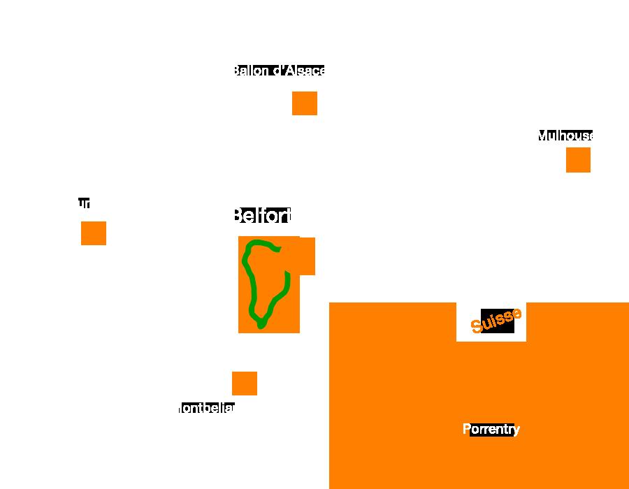 la Boucle 641 de la FVS , une voie verte traversant le Territoire de Belfort