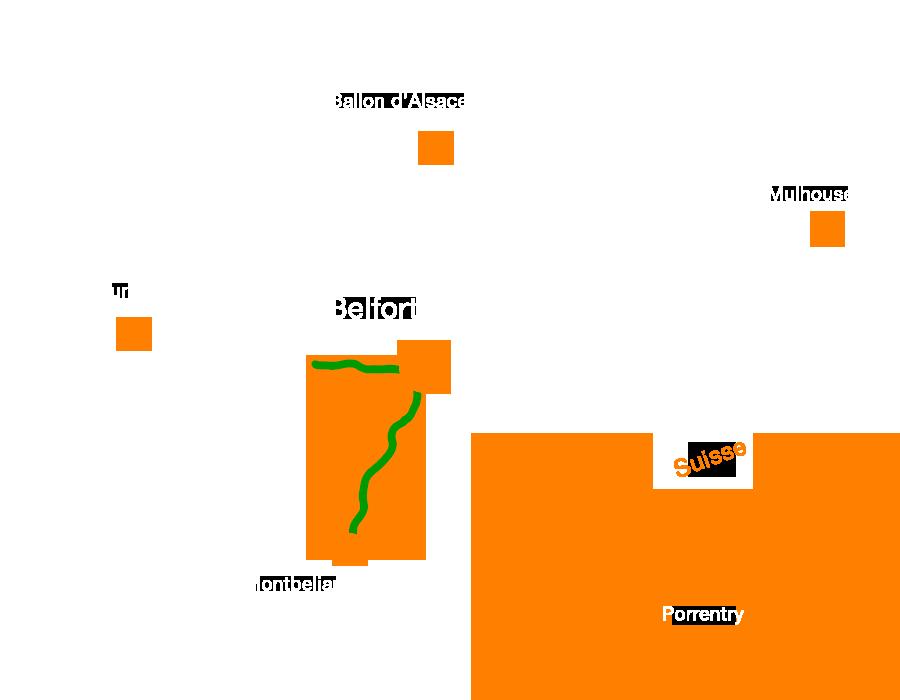 La Coulée verte, une voie verte traversant le Territoire de Belfort