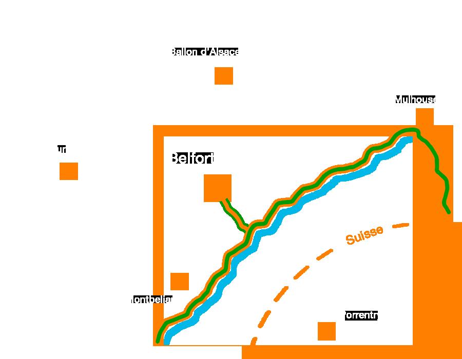 L'EuroVélo6, une voie verte traversant le Territoire de Belfort