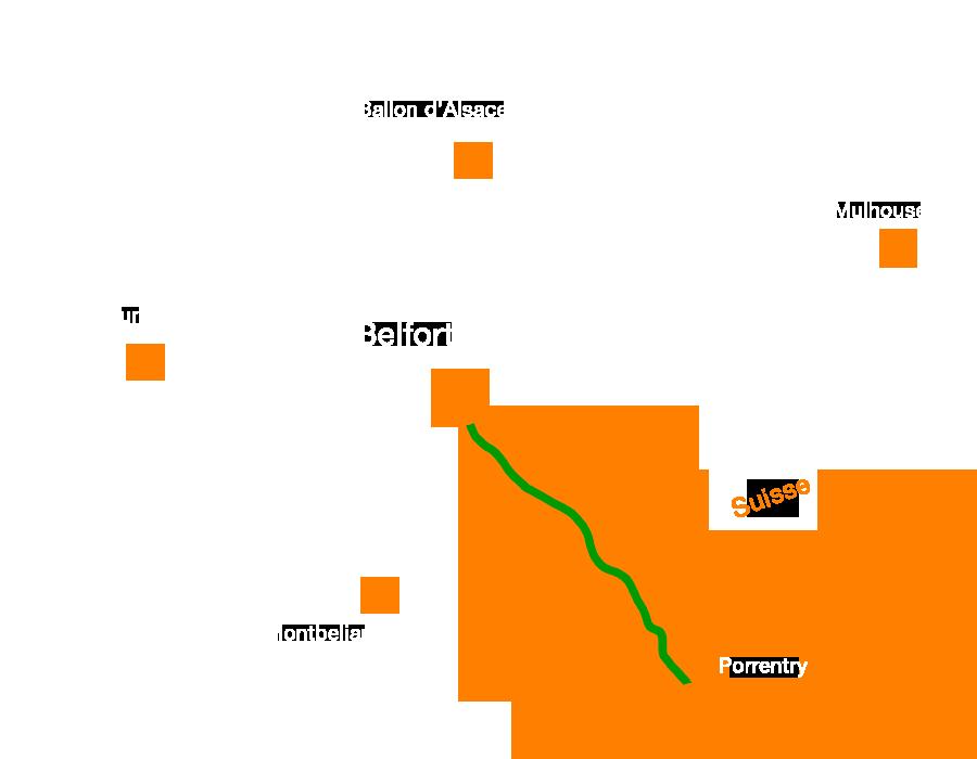 La Francovélosuisse, une voie verte traversant le Territoire de Belfort