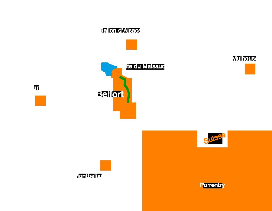 La Promenade François Mitterrand, , une voie verte traversant le Territoire de Belfort