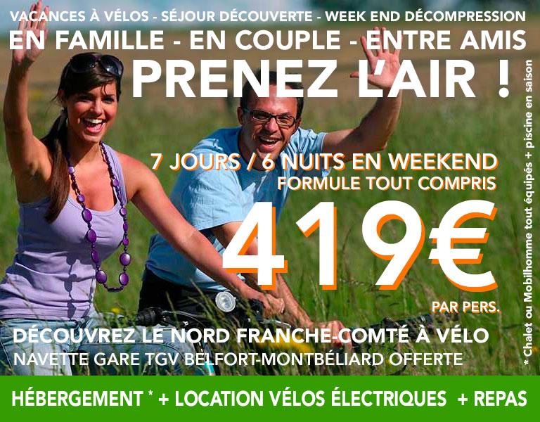promo Hébergement plus Location de vélo électriques 7 jours 6 nuits